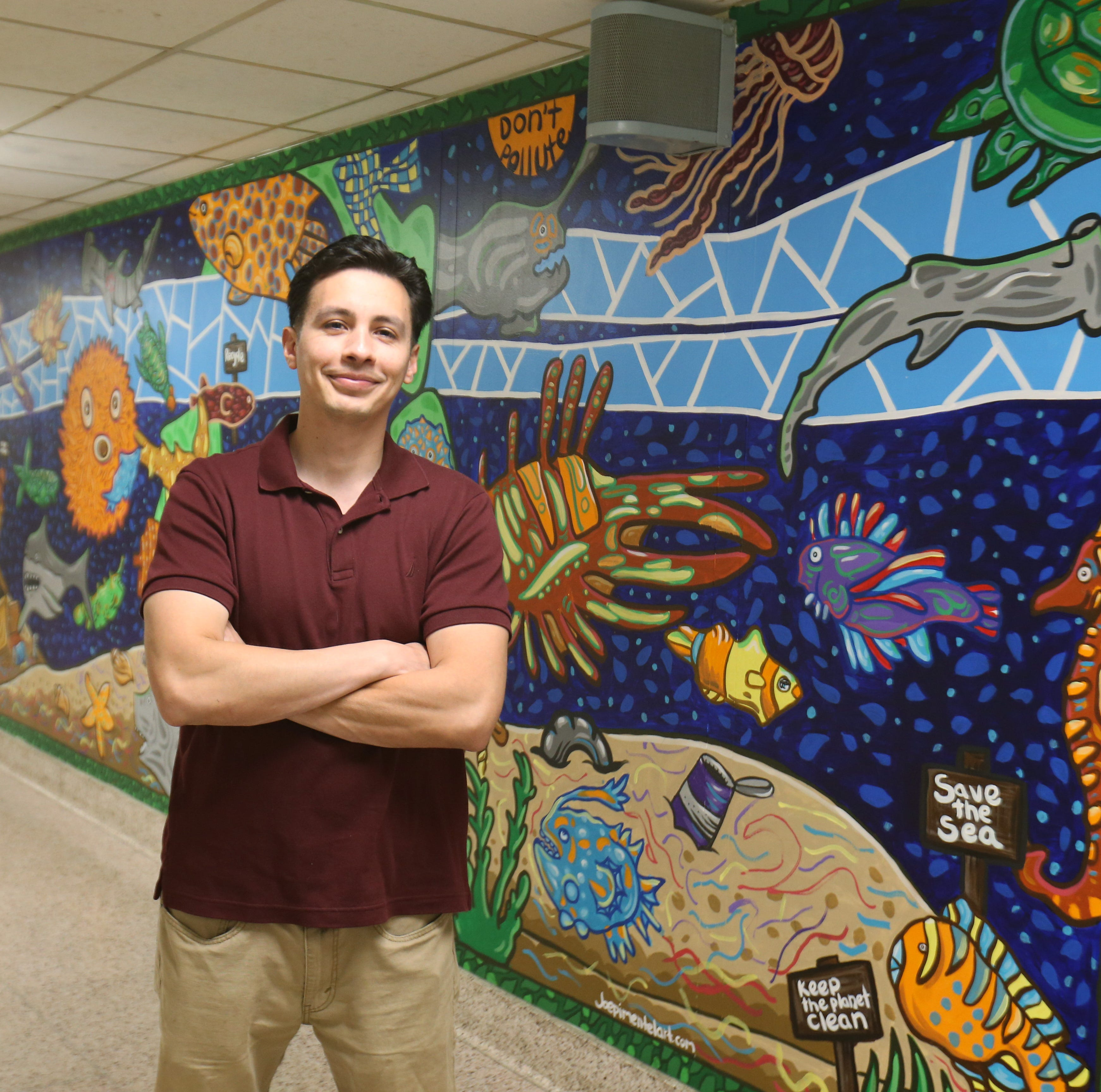 Art springs from the imagination - and onto the walls - for muralist Joe Pimentel