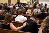 Almost 200 people gathered in Valley View Alliance Church, to remember and celebrate the life of Chad Merrill, who was shot dead on July 21.