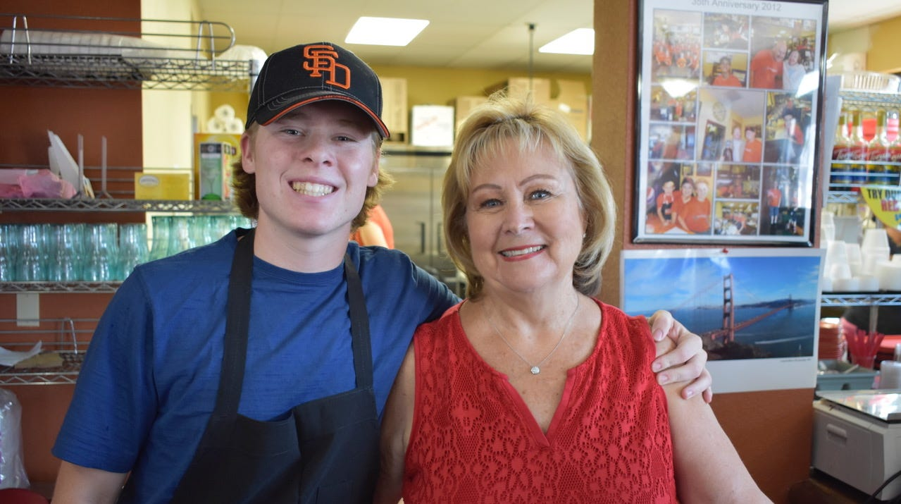 San Francisco Deli co-owner Brenda Luntey, right, and grandson Rollin Lunte