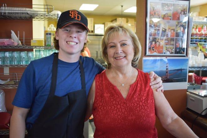 San Francisco Deli co-owner Brenda Luntey, right, and grandson Rollin Lunte