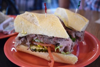 Shasta County's favorite sandwich - the tri-tip - awaits at  San Francisco Deli, along with pastrami and other treats.