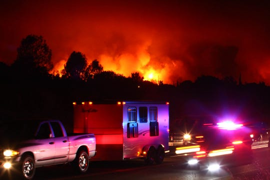 Redding was under evacuation the night of July 26, 2018, as the Carr Fire blazed its way into the city.