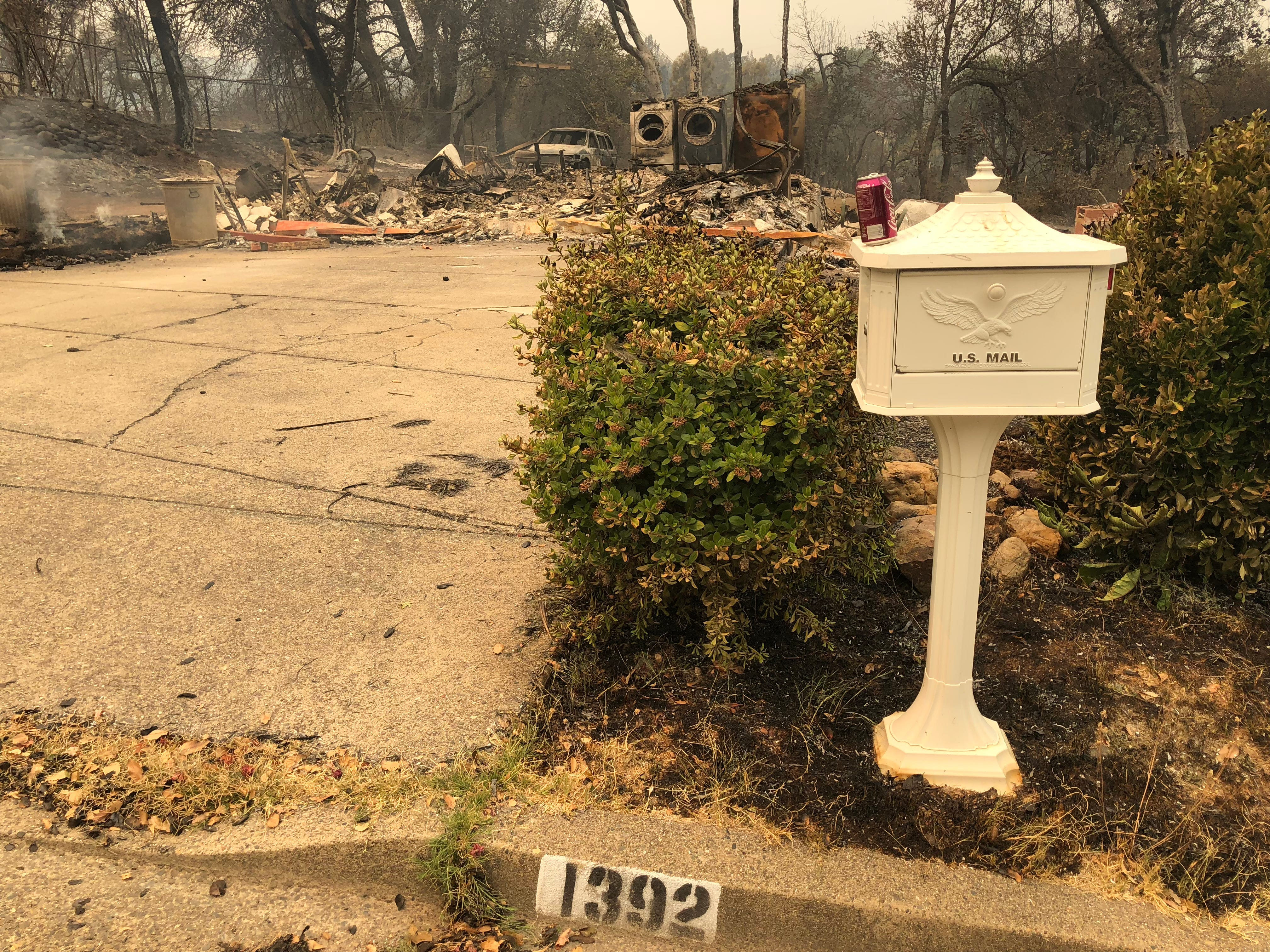 At least five homes on Ridge Drive in the Mary Lake subdivision were destroyed by the Carr Fire as of Friday morning.