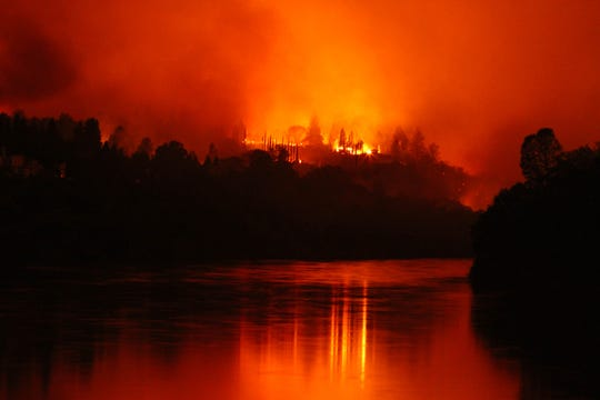 Parts of Redding were under evacuation the night of July 26 as the Carr Fire made its way into the city.