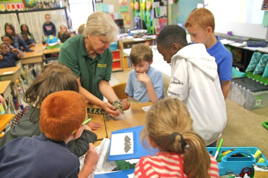 Naturalist Hulya Onel sees educating the public about area wildlife as a vital component in conservation. She often takes interesting critters to area schools.