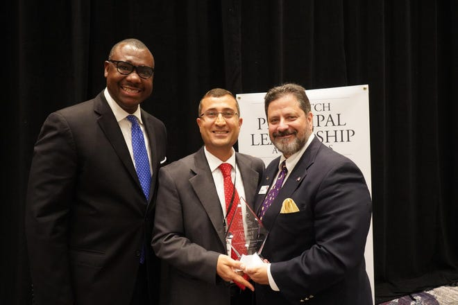 From left to right: former Representative and former Chairman of the Florida Public Service Commission Ronald Brisé, Tallahassee School of Math and Science Principal Ahmet Temel, Florida TaxWatch President and CEO Dominic M. Calabro