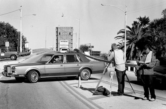 January 27, 1987 - Local officials continued to lobby for a Barber Bridge replacement because it periodically would get stuck open, forcing motorists to use the 17th Street Bridge.