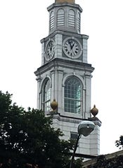 All four sides of the Mount Vernon City Hall clock read 12:55 at 11:40 a.m. Thursday, July 26, 2018