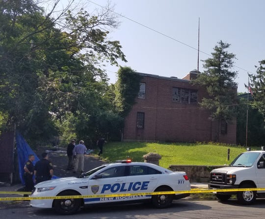 New Rochelle police investigating the scene of a possible homicide, Friday, July 27, 2018.