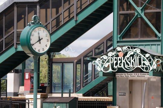 11:40 - The Peekskill town clock at the Metro-North Peekskill Train Station on July 26, 2018.
