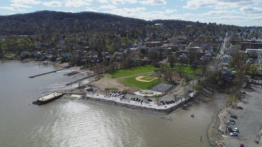 A drone view of the Village of Nyack, April 26, 2018.