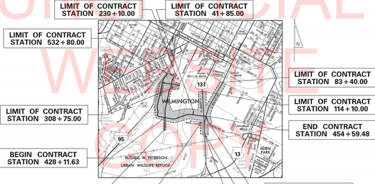 Project plans show additions to the Riverfront road system in Wilmington.