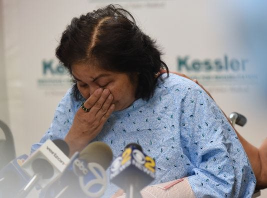 Mary Rose Ballocanag, the mother of the Trinidad family, is recovering from the car crash at Kessler in Saddle Brook, New Jersey, where a press conference was held Friday.