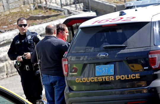 A known drug dealer and user who goes by name Sandy Bounce is arrested by members of the Gloucester Police Department for buying opiate drugs in Gloucester, Mass.