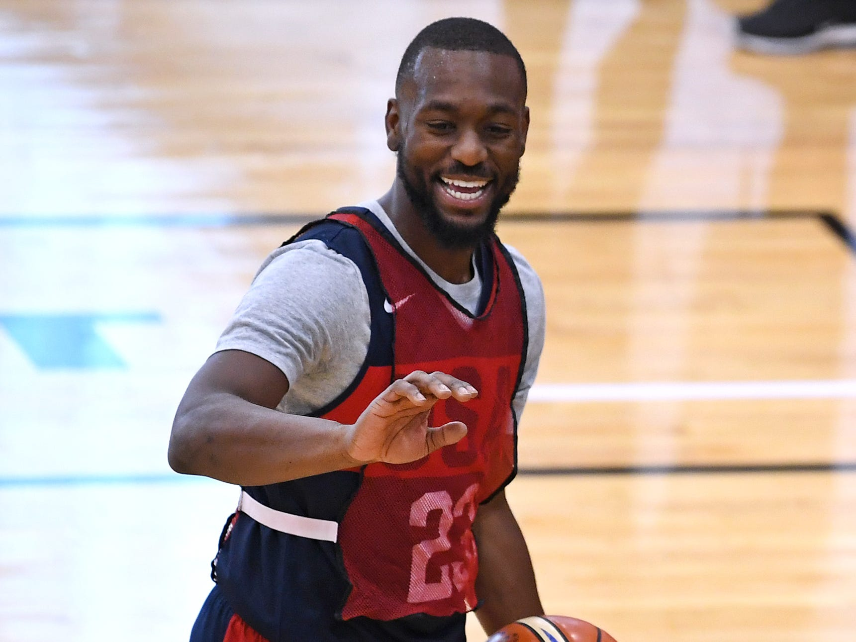 Kemba Walker is pictured during the 2018 USA Basketball National Team Minicamp.