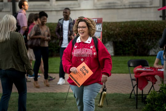 """Deanna (Melissa McCarthy) gives new meaning to the phrase """"old school"""" when she goes back to college alongside her daughter in """"Life of the Party."""""""