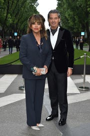 Tina Turner, seen with husband Erwin Bach in 2015, announced via Twitter Friday that she had scattered the ashes of her late son in the Pacific Ocean.