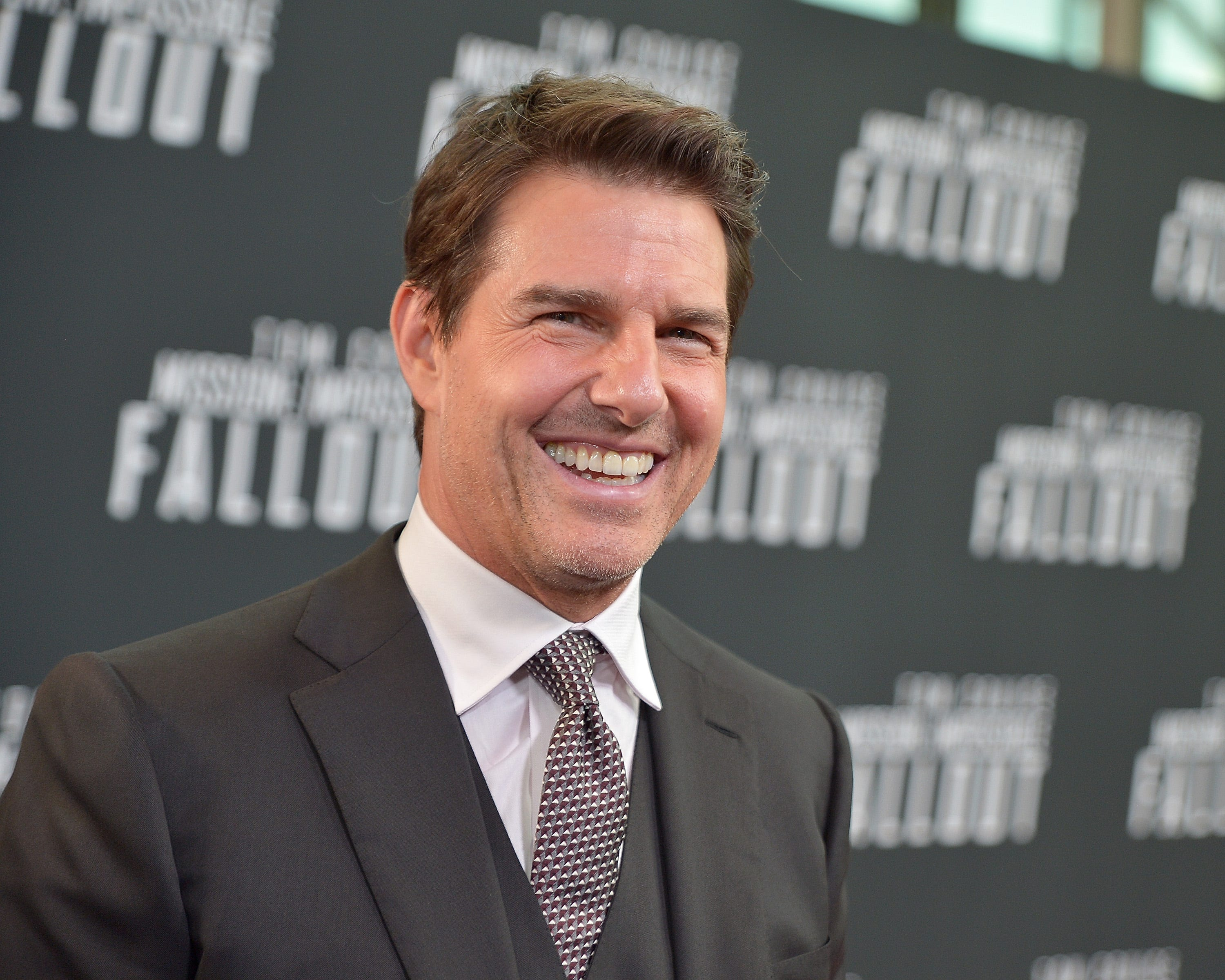 Tom Cruise sits on speeding train for 'Mission: Impossible' stunt. Passing Norwegian motorists freak out.