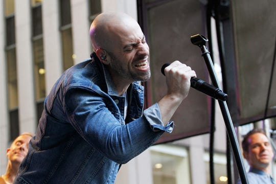 Chris Daughtry performs with Daughtry in 2014.