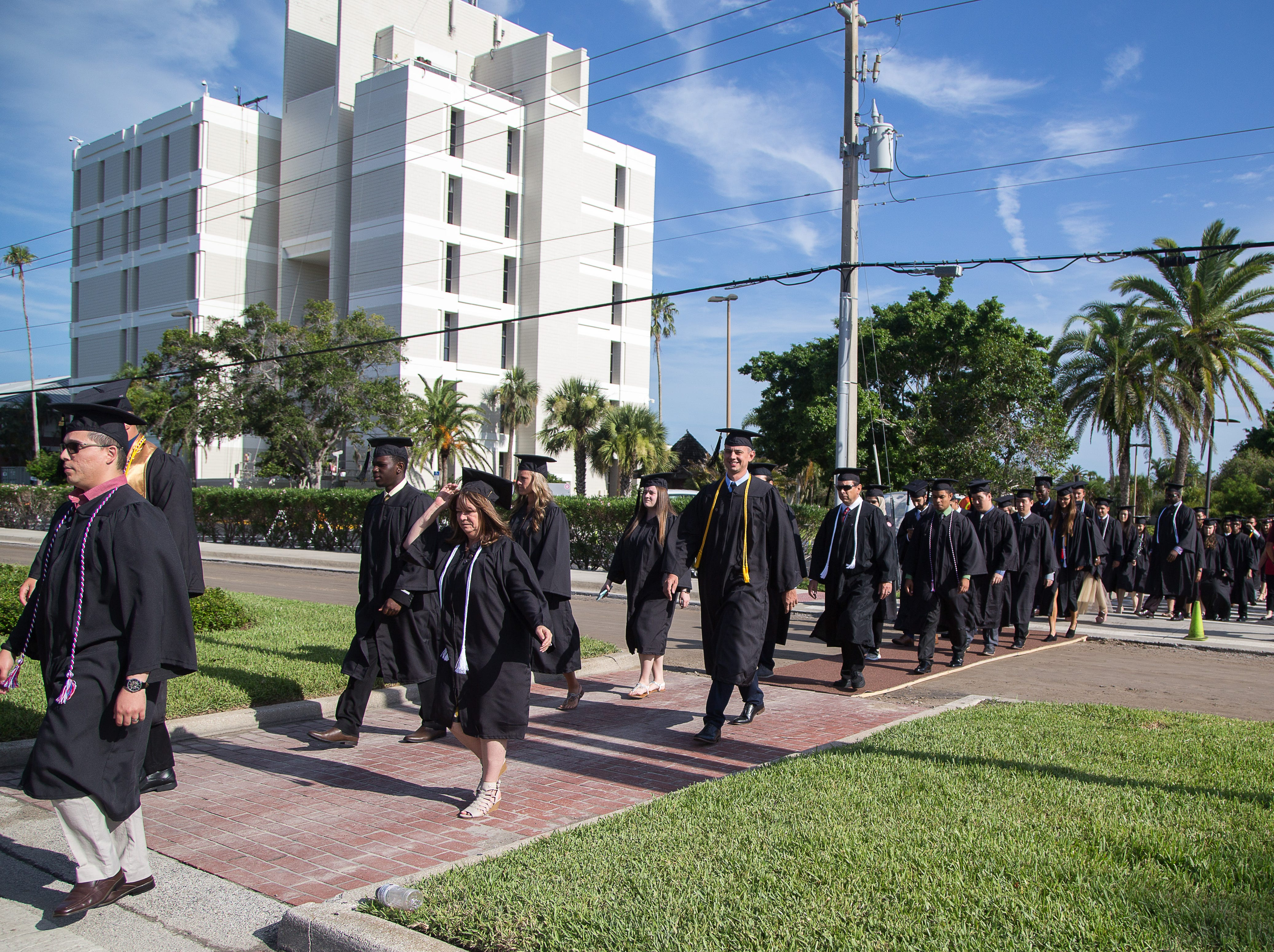 Florida Tech bestowed more than 740 degrees for students from the main campus in Melbourne, off-site locations and online programs, with about 300 participating in Saturday's ceremony. Students hailed from 33 U.S. states and 37 countries.