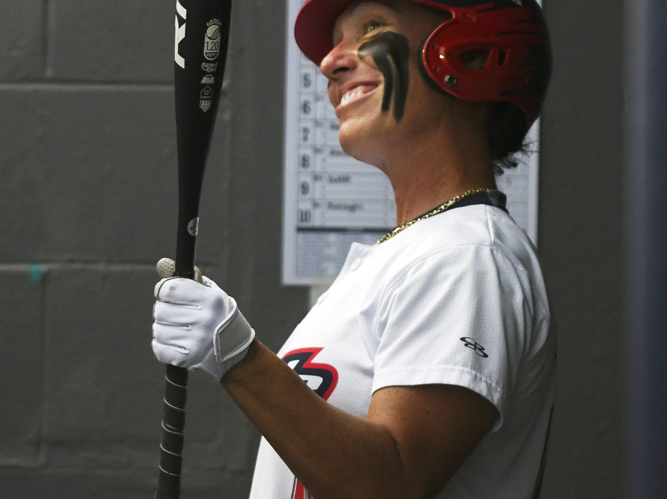 Kelly Kretschman prepares to take her turn at bat during Friday's game in Viera.