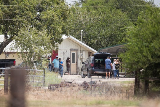 The home in the 4200 block of West state Highway 44 in Robstown, where two bodies were found Friday evening.