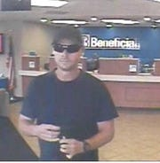 Police say this man robbed a Beneficial Bank branch in Deptford on Thursday.