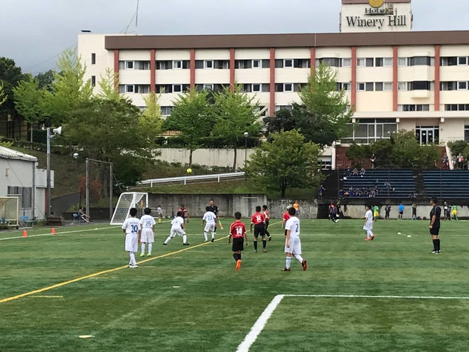 The Wings FC U12 team representing Guam plays in the Nakaizu Winery Hill Cup Junior Soccer Tournament in Shizuoka, Japan on July 28.