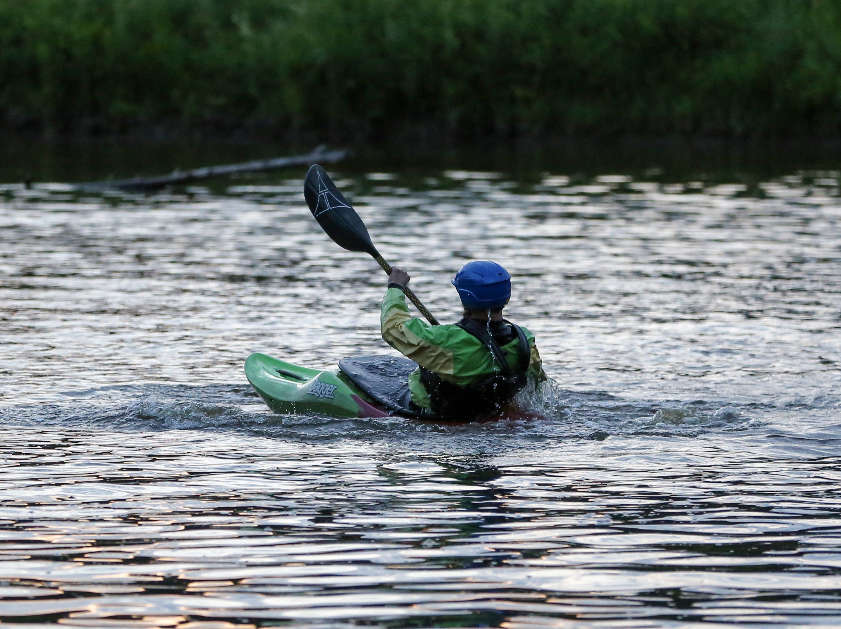 Scenes from a moonlight paddle on the Manitowoc River Friday, July 27, 2018, in Manitowoc, Wis. Josh Clark/USA TODAY NETWORK-Wisconsin