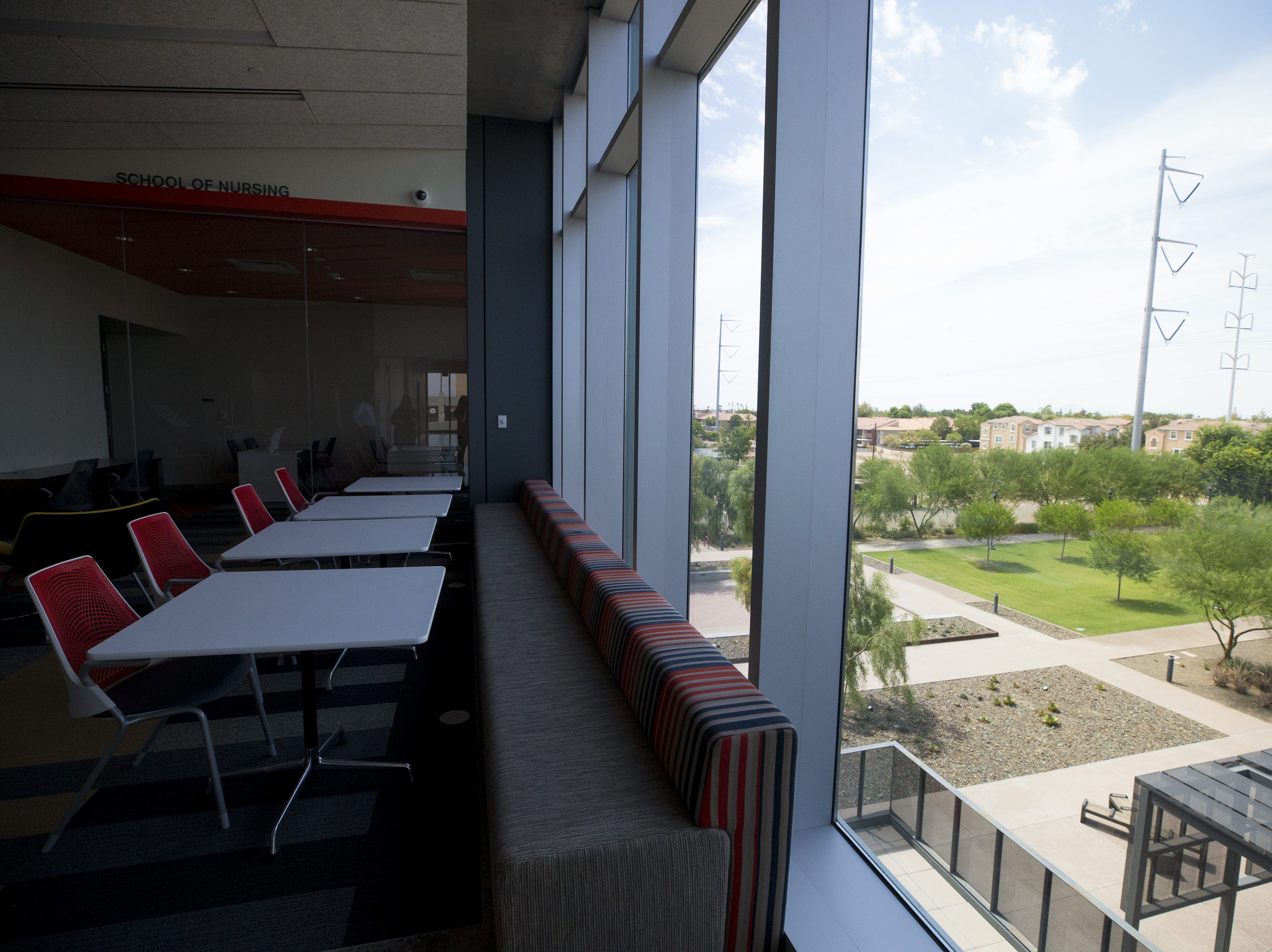 The third floor of the Gilbert University Building is designed to service nursing students. The city recently leased the first floor to Park University but is looking for other tenants to fill the four story building.