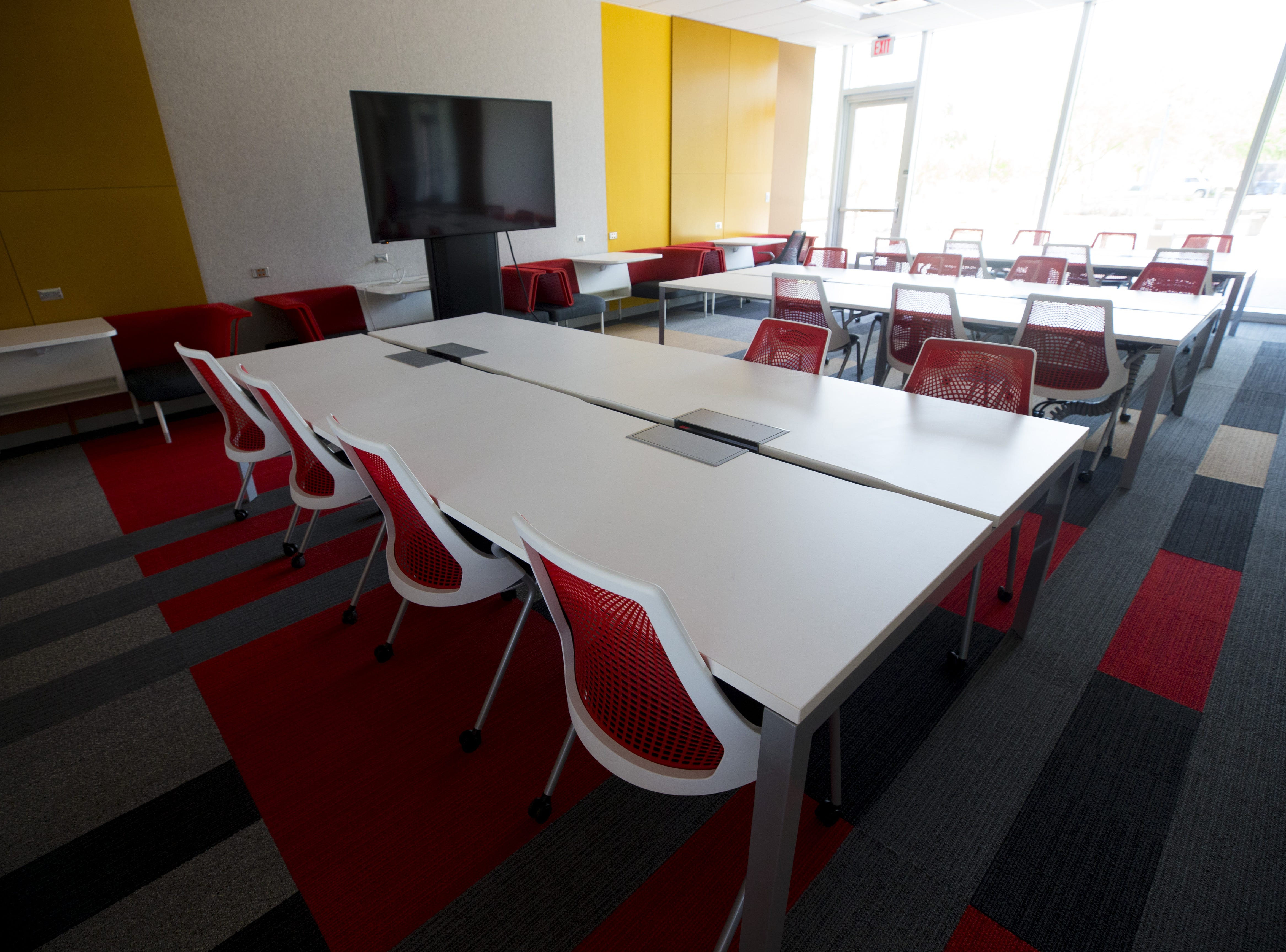 Park University is the new tenant in the Gilbert University Building.  An interior of one of the classrooms in the building.