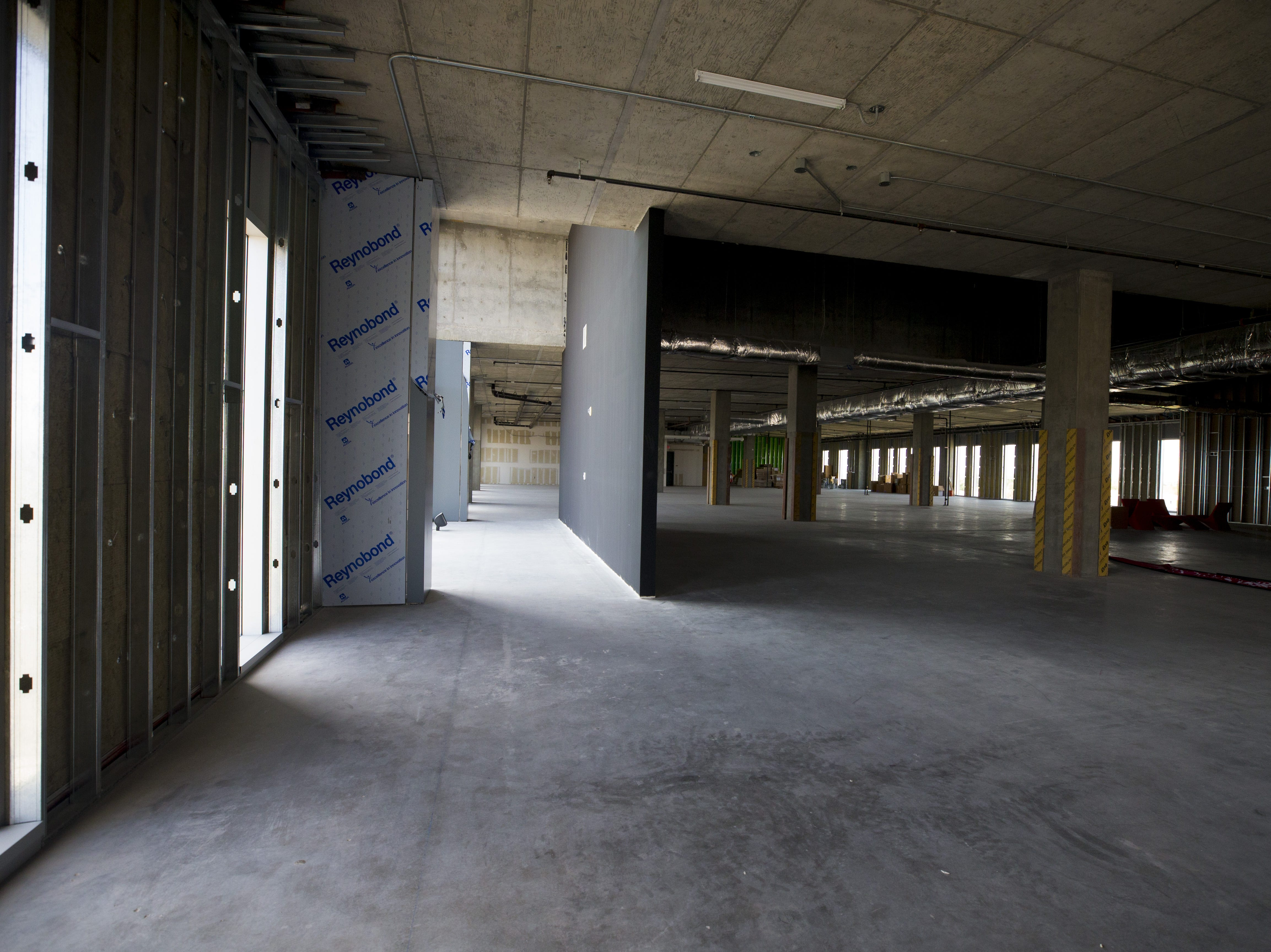 The fourth floor of the Gilbert University Building is unfinished. The City of Gilbert recently leased the first floor to Park University.