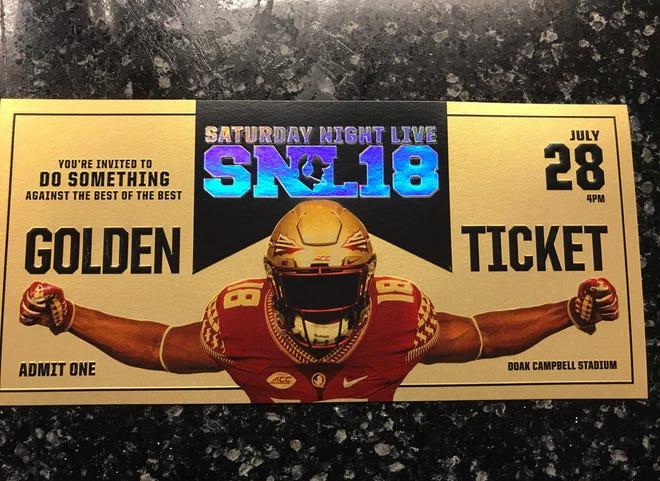 The golden ticket for FSU's Saturday Night Live recruiting event.