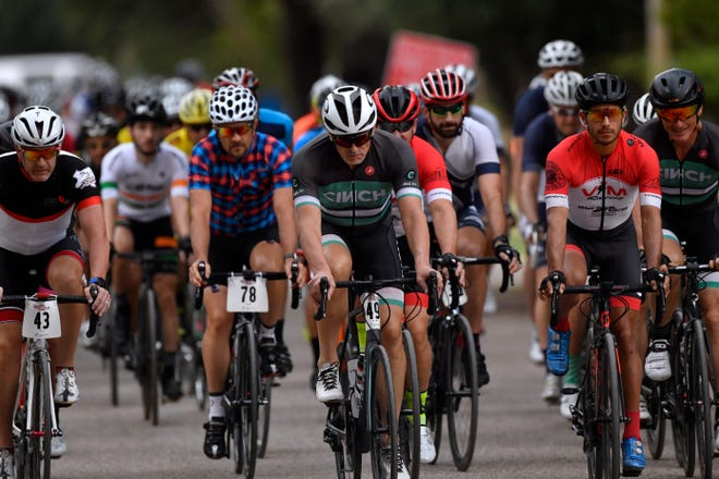 Bicyclists begin the 62.5-mile course of the Tour de Gap Saturday in Buffalo Gap. This was the 36th year of the bike race that winds through south Taylor County.