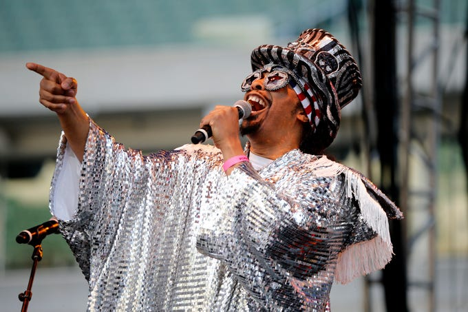 Cincinnati's own Bootsy Collins opens the Cincinnati Music Festival at Paul Brown Stadium Saturday, July 28, 2018. The Cincinnati Music Festival began in 1962 and is one of the largest music festivals in the United States.