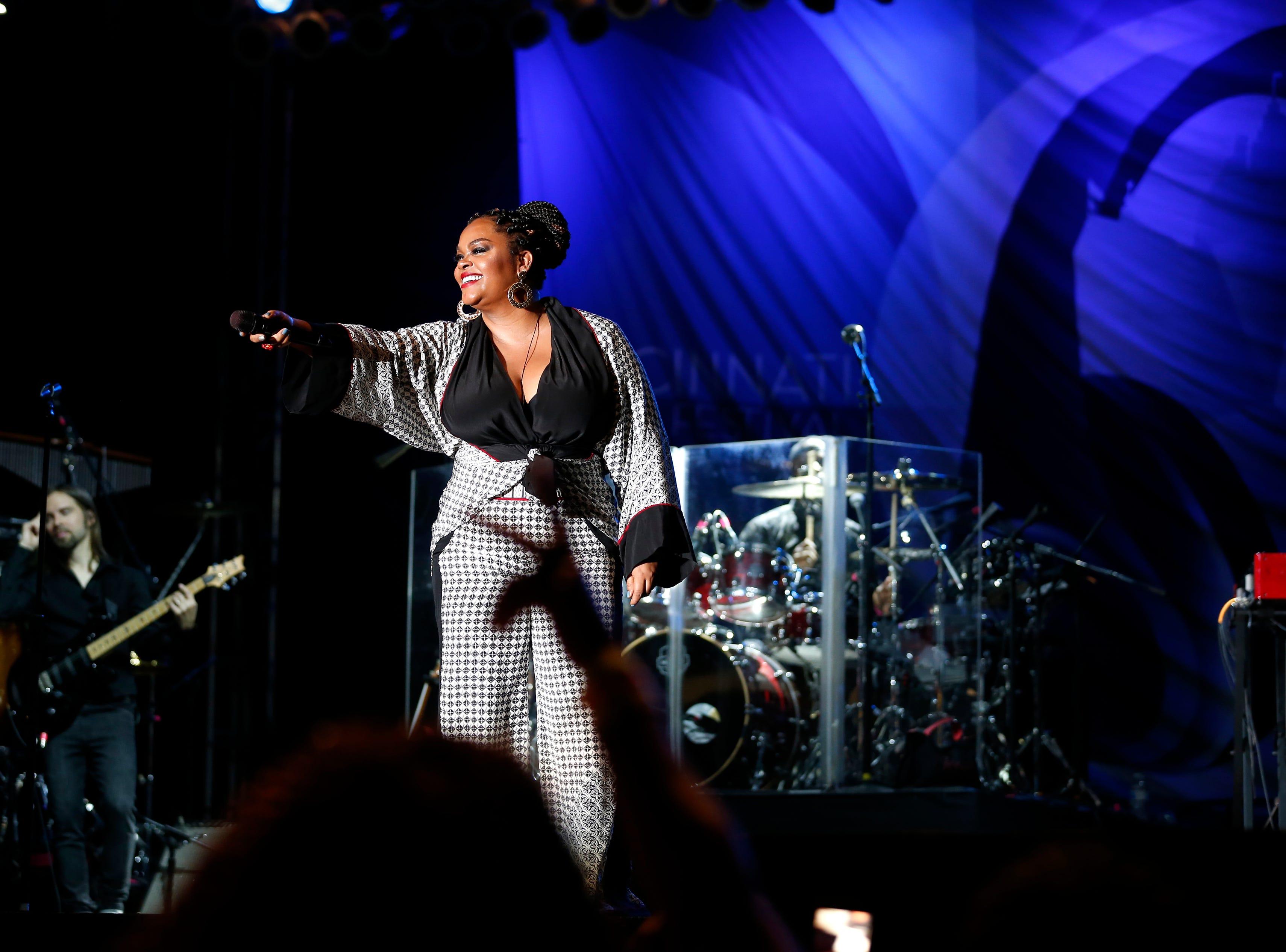 Jill Scott performs during the Cincinnati Music Festival.