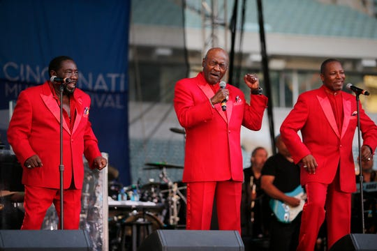 The O'Jays perform one of the classic hits during the Cincinnati Music Festival. The O'Jays began their musical career in Canton but now live in Cleveland and have been performing for 50 years.