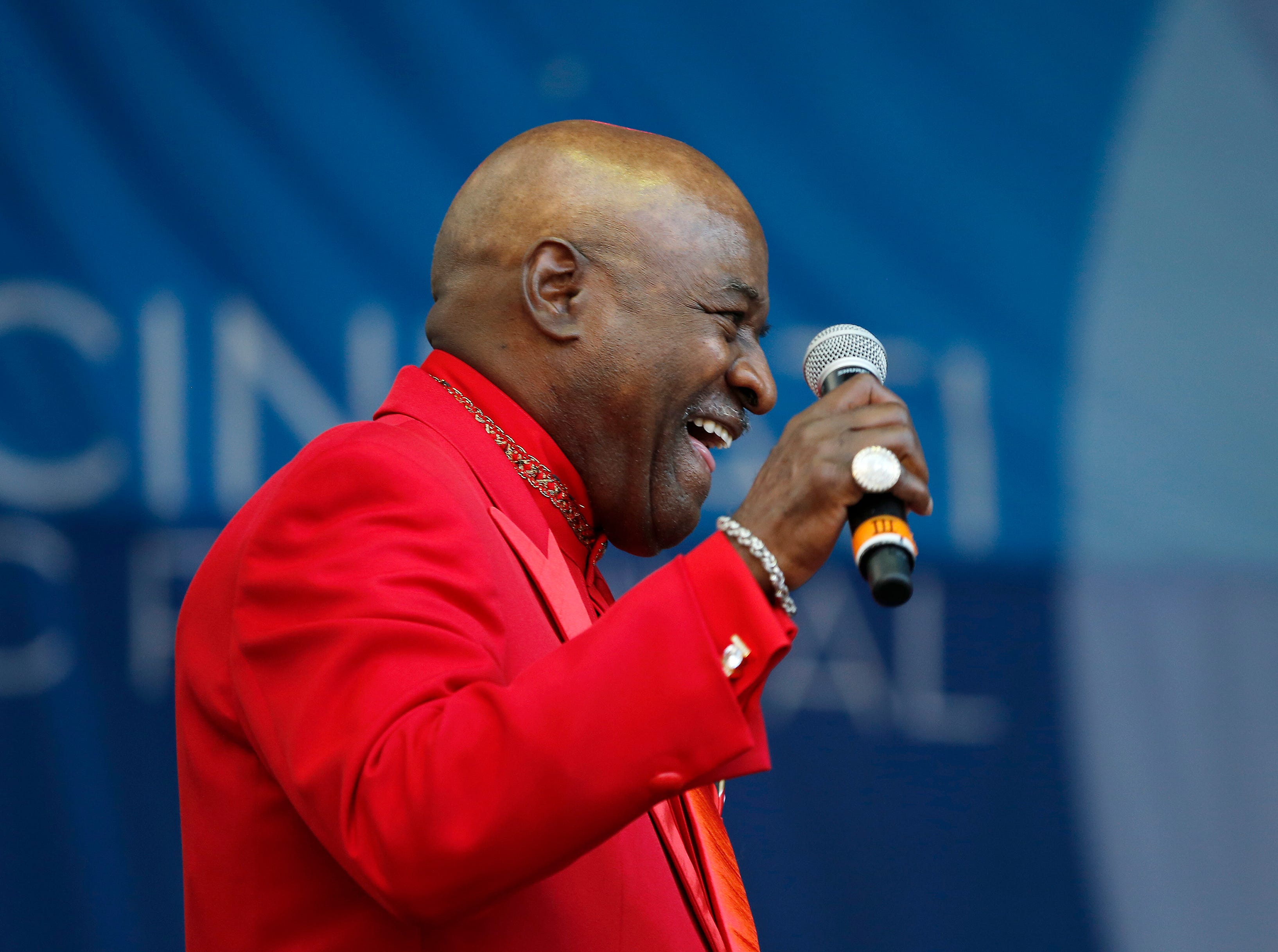Walter Williams of The O'Jays performs during the Cincinnati Music Festival.