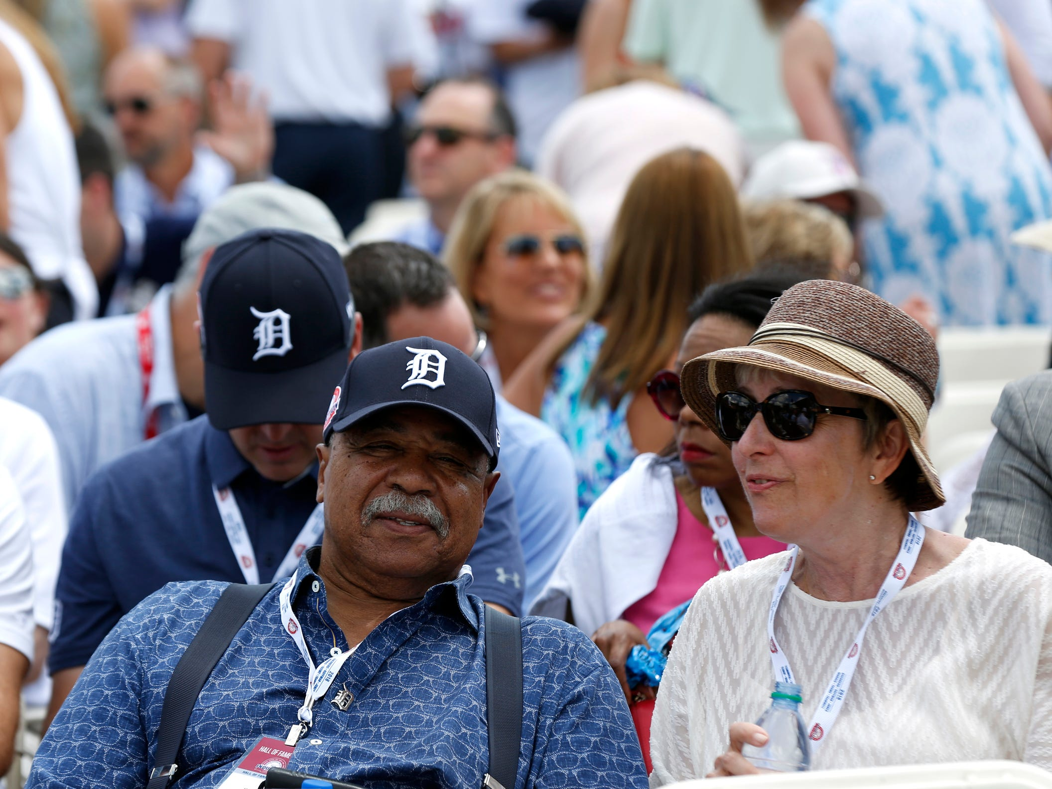 Detroit Tigers legend Willie Horton was one of many former Tigers in attendance to watch Jack Morris and Alan Trammell get inducted into the baseball hall of fame at the Clark Sports Center after the National Baseball Hall of Fame induction ceremony in Cooperstown, NY on Sunday, July 29, 2018.