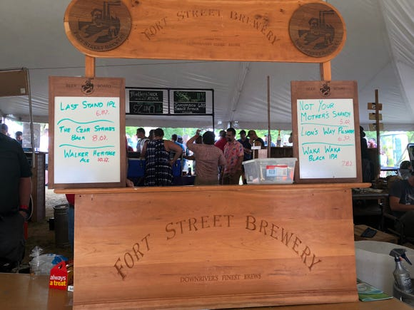The Fort Street Brewery stand near the end of the Michigan Brewers Guild 2018 Summer Beer Festival.
