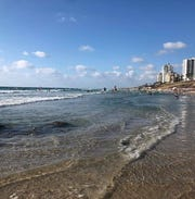 Bat Yam beach in a suburb of Tel Aviv, Israel, is known for being less crowded than the city's beaches but still has dining and music.
