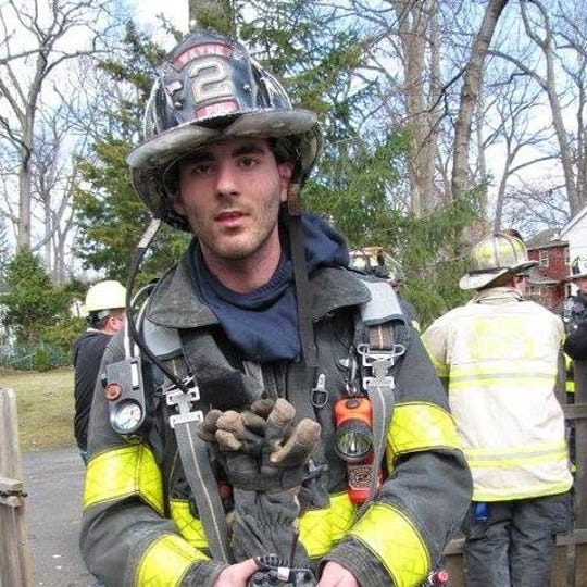 Adam Jobbers-Miller, during his time as a firefighter at Wayne, New Jersey, Fire Co. 2.