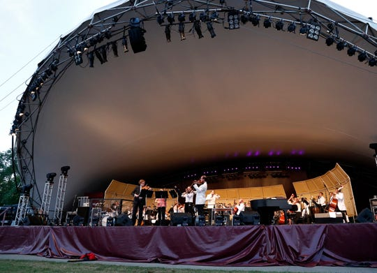 The Lancaster Festival Orchestra performed Saturday night, July 28, 2018, at the Ohio University Lancaster Wendel Concert Stage in Lancaster.