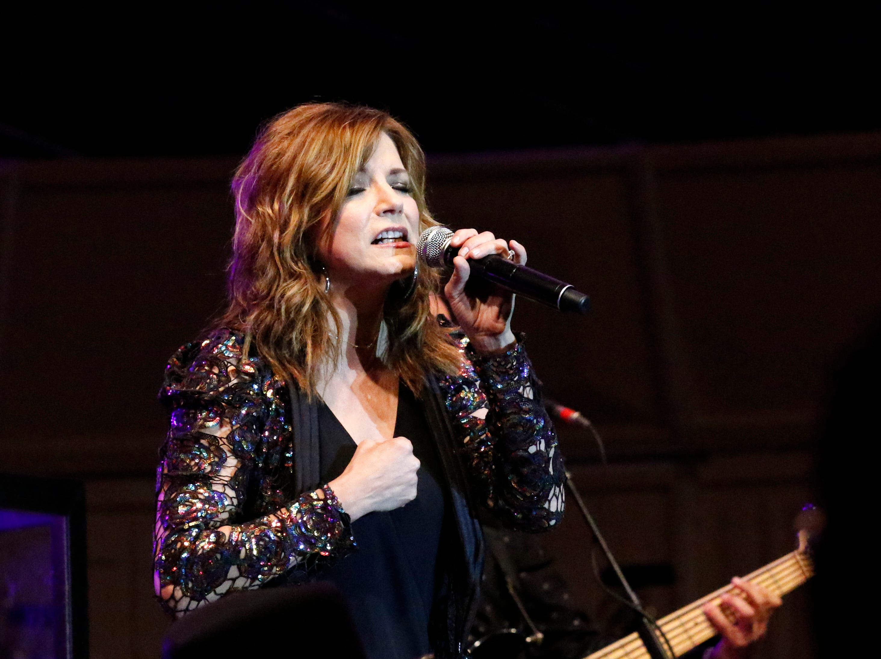 Martina McBride performed to a crowd of more than 10,000 Saturday night, July 28, 2018, during a Lancaster Festival headline concert at the Ohio University Lancaster Wendel Concert Stage in Lancaster.