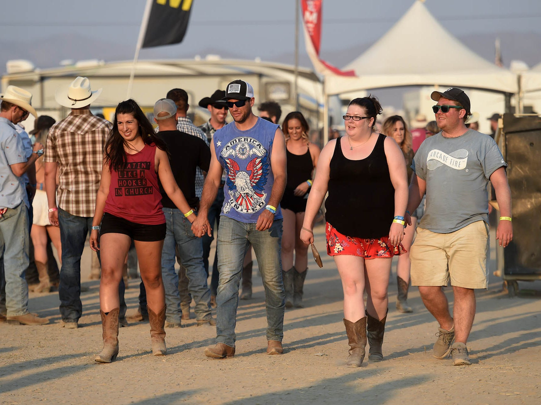 The fun continues on the final day of Night in the Country where thousands of country fans gathered at the country music festival in Yerington, Nevada on July 28, 2018.
