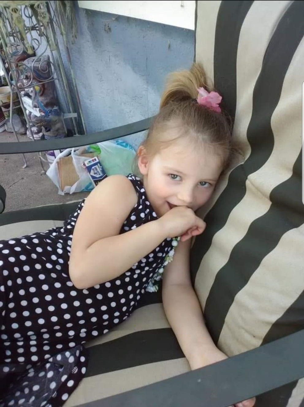 Emily Roberts, 4, died in the fire with her brother James, 5, and great grandmother, Melody Bledsoe, 70,