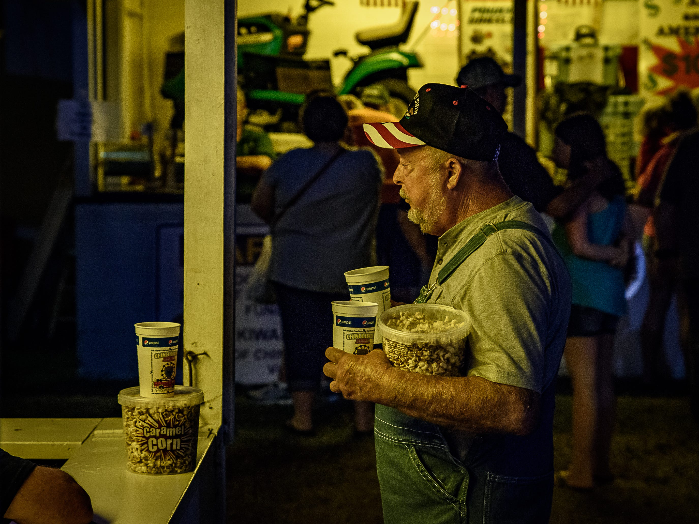Caramel Corn is always popular at the Chincoteague Fireman's Carnival.