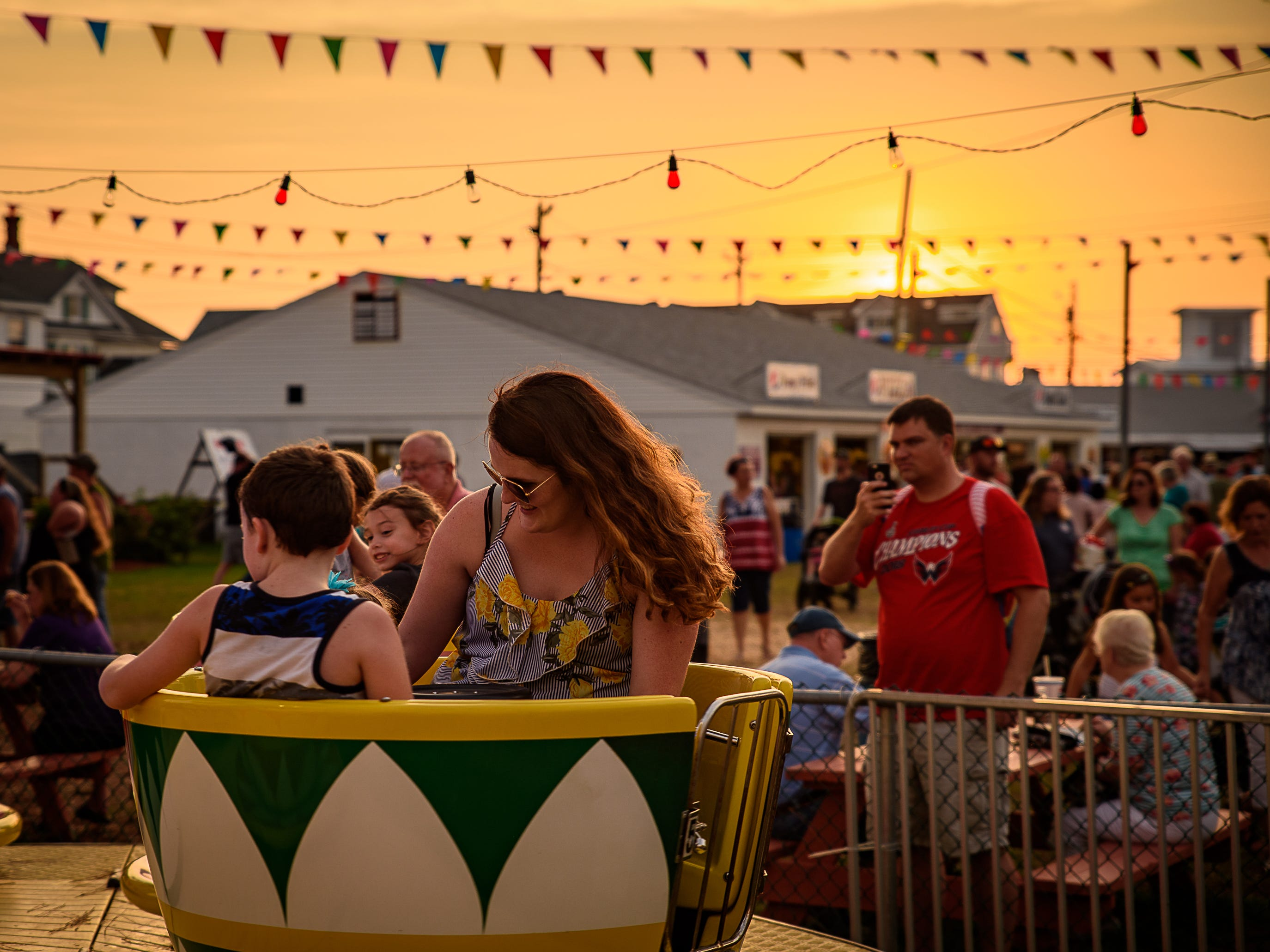 The Teacup Ride had several fans at the Chincoteague Fireman's Carnival.