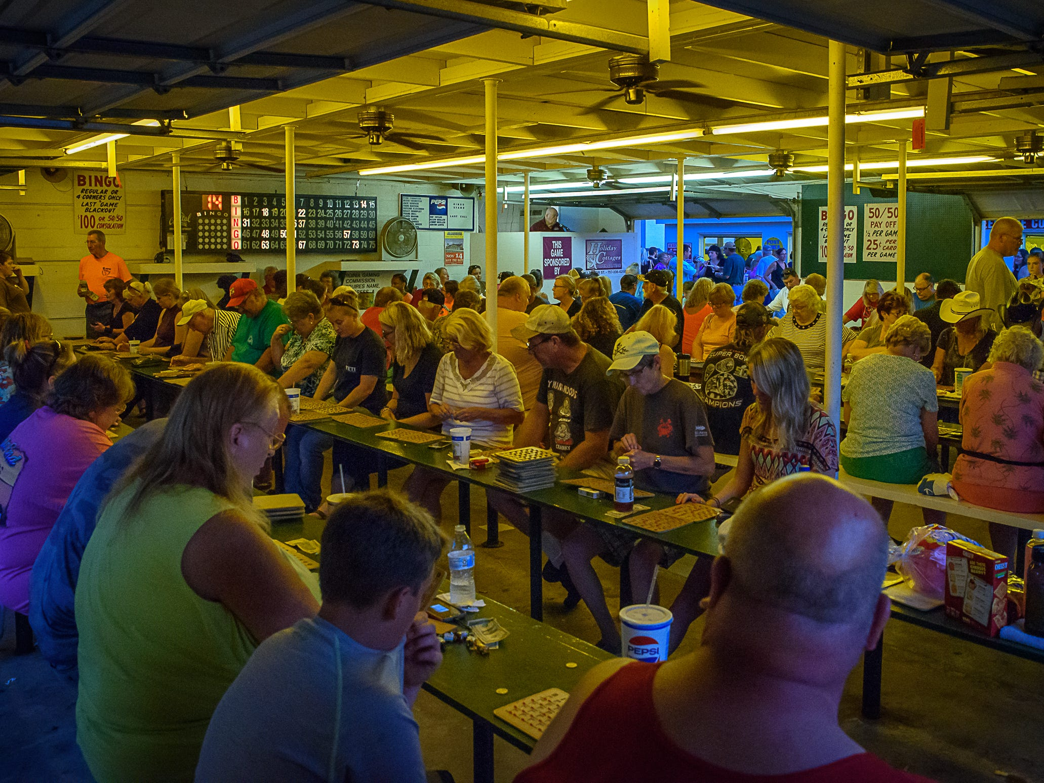 Bingo is always a popular pastime at the Chincoteague Fireman's Carnival.