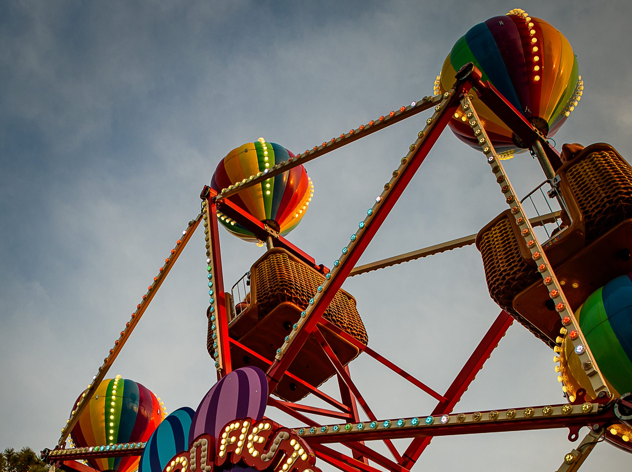A smaller ferris wheel was available for the younger fair-goers at the Chincoteague Fireman's Carnival.